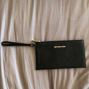 Michael Kors zipper clutch wristlet